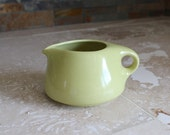 Creamer - Russel Wright Iroquois Casual China creamer avocado - Russel Wright china - pale green creamer - large creamer