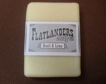 Basil and Lime Handmade Soap - Large