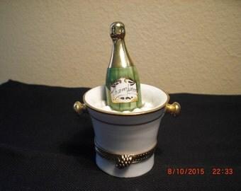 Peint main Limoges champagne box
