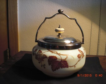 Mt Washington Crown Milano biscuit jar