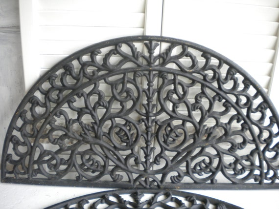 items similar to large ornate cast iron architectural wall hanging decorative metal over the. Black Bedroom Furniture Sets. Home Design Ideas
