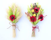Bridesmaids Bouquet-Maid of Honor-Flower Girl Bouquet-Wheat Bouquet-Keepsake Bouquet-FALL WHEAT Collection
