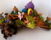 Enchanting ...Driftwood Fairy House Village......OOAK