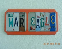 War  Eagle License Plate Sign Auburn Tigers (Made to Order)