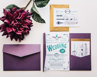 Vintage Circus Inspired Invitations