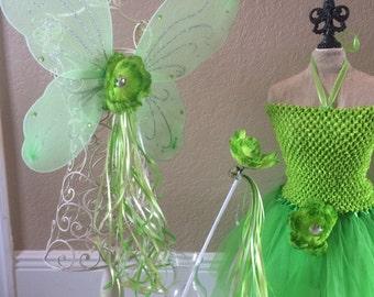 Tinkerbell Costume, Tinkerbell Dress, Fairy Wings, Tinkerbell Wings, Tinkerbell Party, Fairy Costume, Tinkerbell Party Favors, Fairy Party