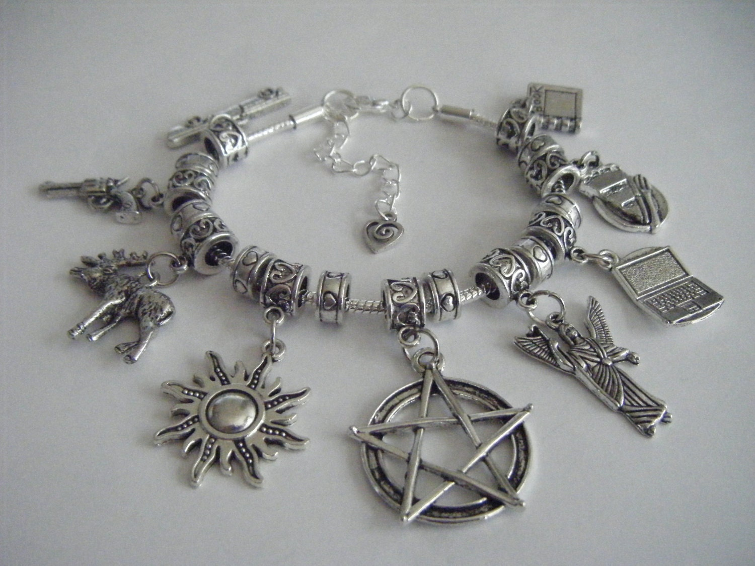 supernatural charm bracelet fandon dean sam by reb333