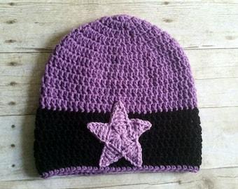 Amethyst Inspired Crochet Beanie - Cosplay Hat - Halloween - Steven Universe Inspired