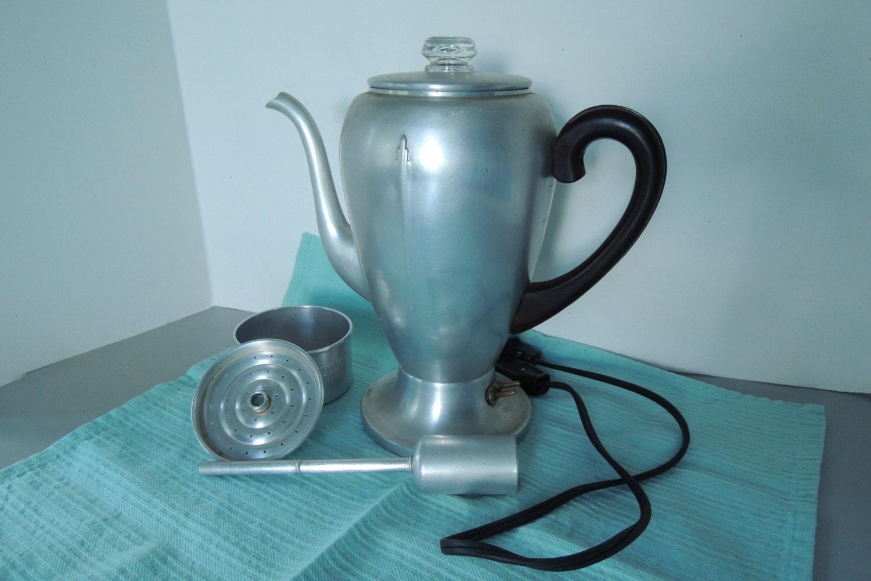 Mirro Percolator Coffee Maker : Mirro Matic 8 cup Percolator Coffee Pot Coffee Maker Art