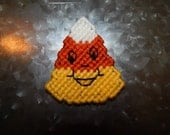 Hand Stitched Plastic Canvas Candy Corn Magnet