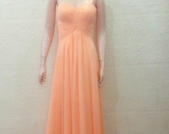 Peach Prom Dress. Peach Bridesmaid Dress. Maxi Dress