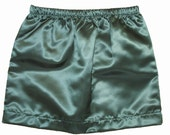 Clearance Sale - Toddlers & Girls Satin Emerald Green Skirt, Custom Sizes, Toddlers-3/4, Girls-XS/6