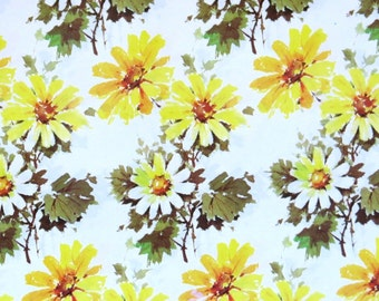 Vintage Rustcraft Floral DAISY Gift Wrap - Wrapping Paper with Matching Card - FOR YOU - 1960s
