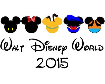 Fab 5 Disney T-Shirt Iron on Custom Personalized  Transfer Decal (iron on transfer, not digital download)