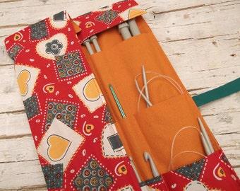 Knitting Roll Up Organizer, Knitting Needle Roll, Knitting Roll, Notions Organizer, Needle Storage, Paintbrush Roll, Tool Organizer