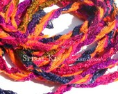10 Foot Tattered Gypsy Rope ~ Festival ~ Pagan ~ Belt ~ Necklace ~ Bracelet ~ Anklet ~ Hair/Head Wrap ~ Bag Strap ~ Curtain ~ Decor ~
