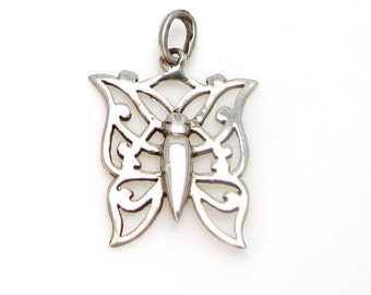 Butterfly Sterling Silver Pendant Charm - Weight 2.2 Grams - Freedom - Transformation #4143