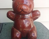 Aramis ceramic cookie jar, teddy bear cookie jar, vintage cookie jar