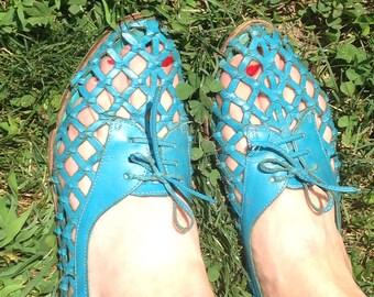 70s Lace Up Sandals