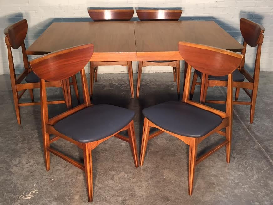 Beautiful HOOKER Mid Century Modern Dining Room Table W 6 Chairs Freshly Reco