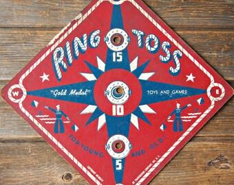 Vintage Transogram Ring Toss Gold Medal Game Board