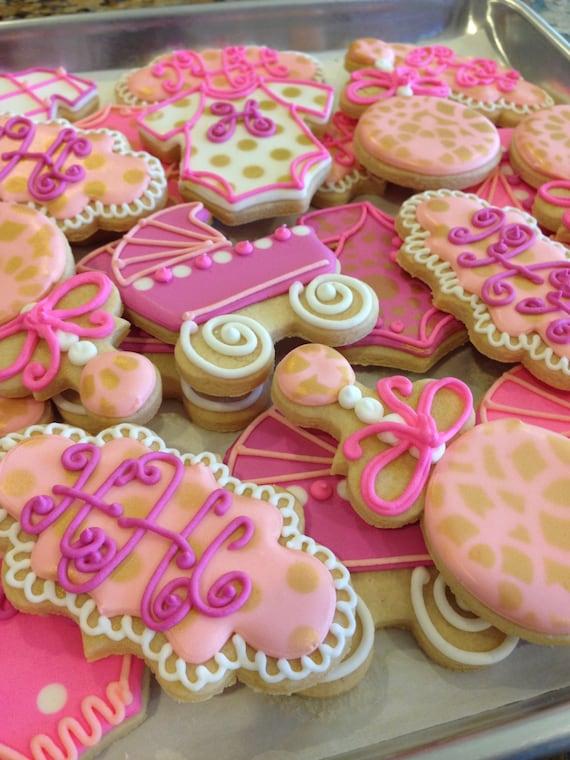 Girl's Baby Shower Decorated Sugar Cookies-1 dozen