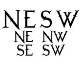 Letters for the Compass Rose Vinyl Wall Decal K514