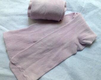 SALE! Hand Dyed Berry Silk Stockings - Small - Georgian, Regency, & Victorian Eras