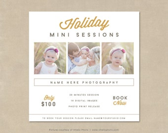 Holiday Mini Session Photography Marketing Board