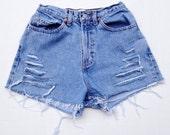 Super High Waisted Denim Shorts Vintage Gap Jean Shorts Size 3/4