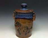 Great lakes wide lidded jar (includes shipping )- made to order