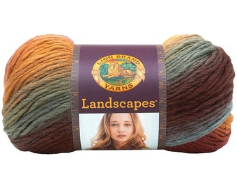 Lion Brand Landscapes Self Striping Yarn in Desert Spring