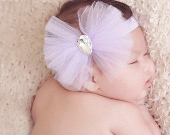 Tulle Headband, Lavender Headband, Unique Headband, Soft Headband, Stylish Headband, Baby Accessories, Baby Girl Accessories, Photo Prop
