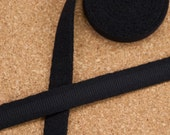 """5 Yards 3/8"""" Black Plush Underwire Channeling for Bra Making Factory Dyed 11mm Bra Making"""