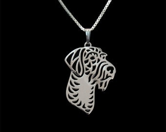 German Wirehaired Pointer jewelry - sterling silver pendant and necklace