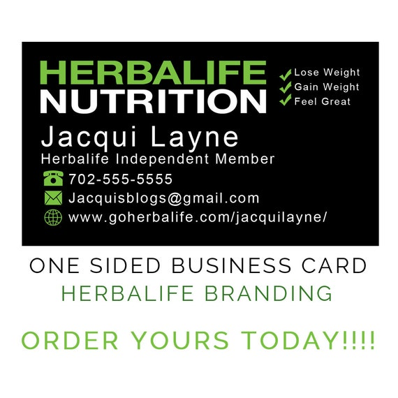 Herbalife Nutrition e Sided Business Cards