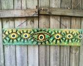 Evil Eye Protection painting yard art hand painted folk style Loving safe house southern