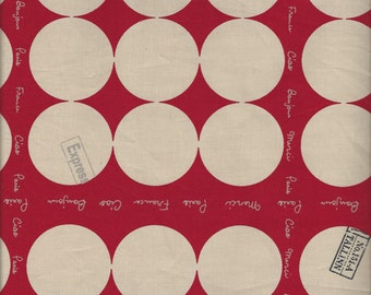 French Small Dot In Red (Col A) by Suzuko Koseki for  Yuwa of Japan