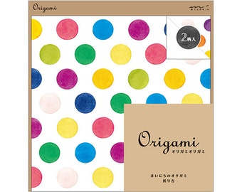 Set of 20 Watercolor Dot Origami Paper  Folding Paper 15x15cm  (34433-006) Buy other items together for BETTER price.