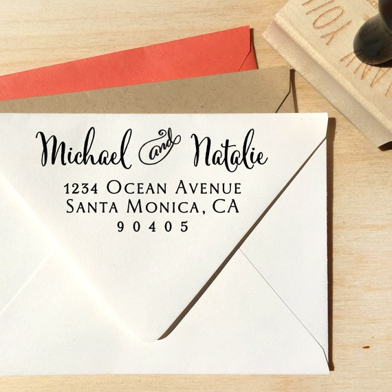 Items Similar To Modern Calligraphy Return Address Stamp