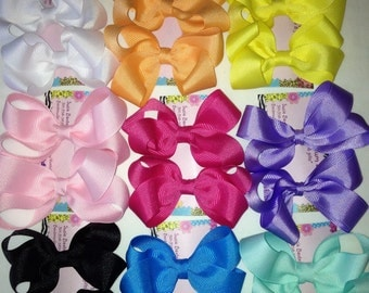 5 Sets of 2 pigtail Hair Bows!