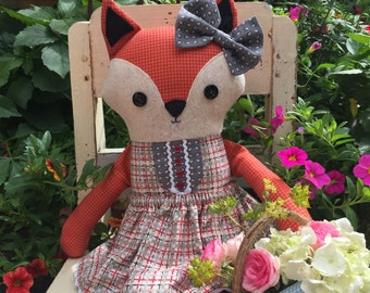 Frannie Fox PDF softie doll pattern