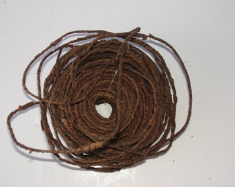 BARK Covered WIRE,  Natural, Approx. 70 ft.,  Woodland, Rustic Decor, DIY, Home Decor
