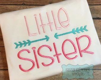 Little Sister Machine Embroidery Design