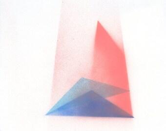 Light rays minimal geometric original painting