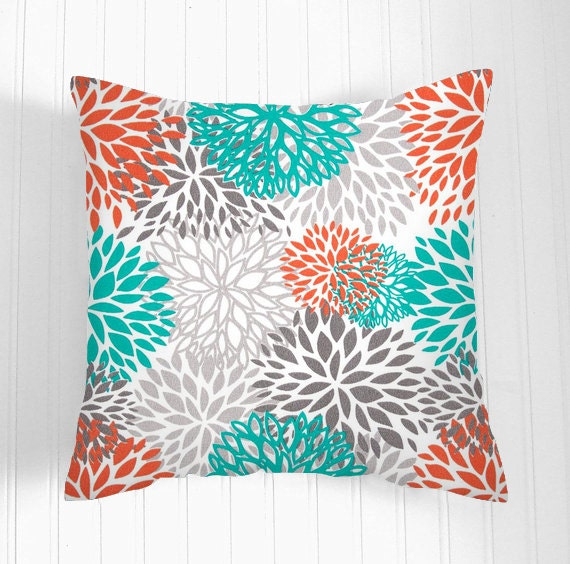 20 By 20 Decorative Pillow Covers : Decorative THROW PILLOWS 20 x 20 Orange Throw Pillow Covers