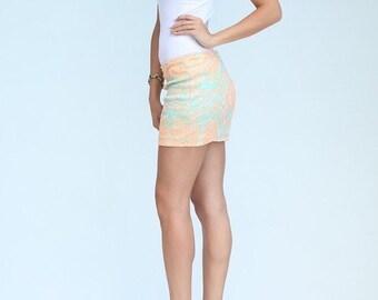 Sequin Mint Mini Skirt