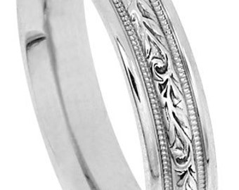 14K 4.8mm men's band