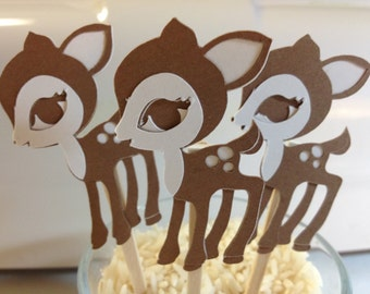 Big Eyed Deer/ Baby Shower/Happy Birthday/ Zoo Theme Party