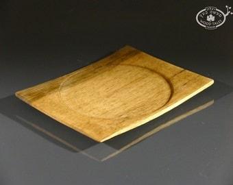 Handturned African Walnut Square  Plate